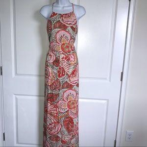 Ann Taylor LOFT Floral Maxi Dress Size 14 Tall
